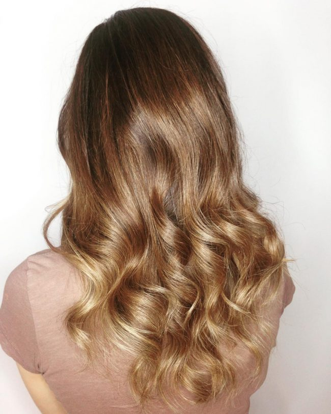 Golden Caramel Waves