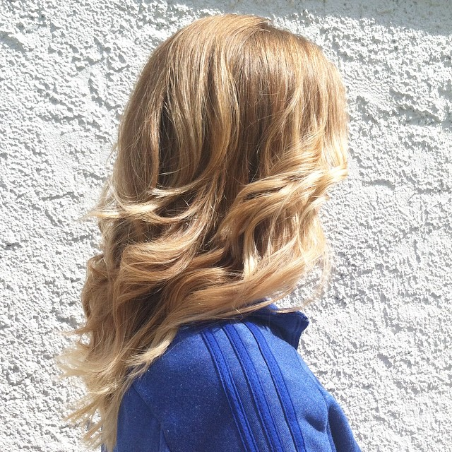 Golden Locks with Hand Painted Streaks