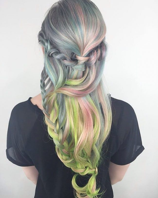 Gorgeous and Silky Rainbow Mermaid