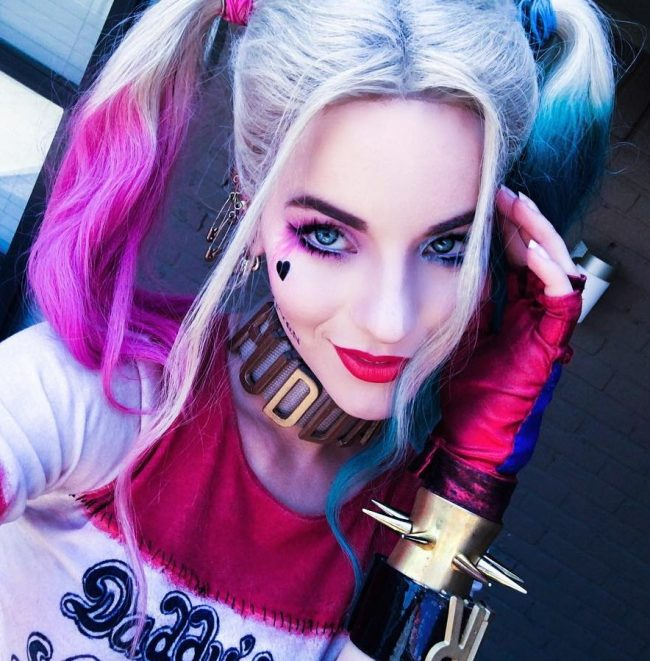 Harley Quinn Colorful Pigtails