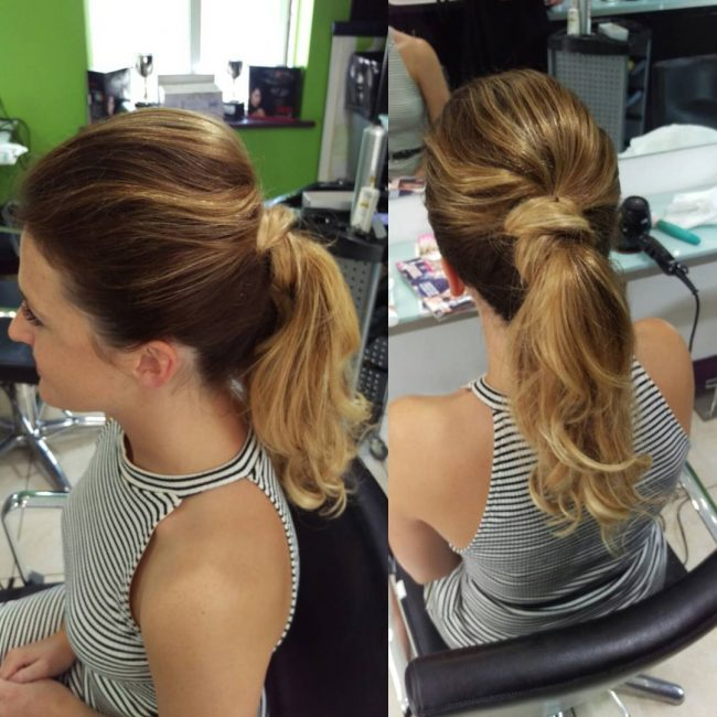 High Textured Ponytail