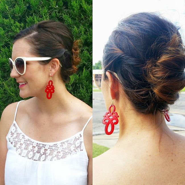 Holiday Updo for Short Hair