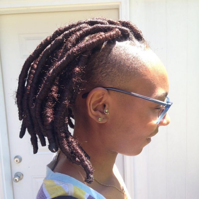 Huge Faux Locks Mohawk