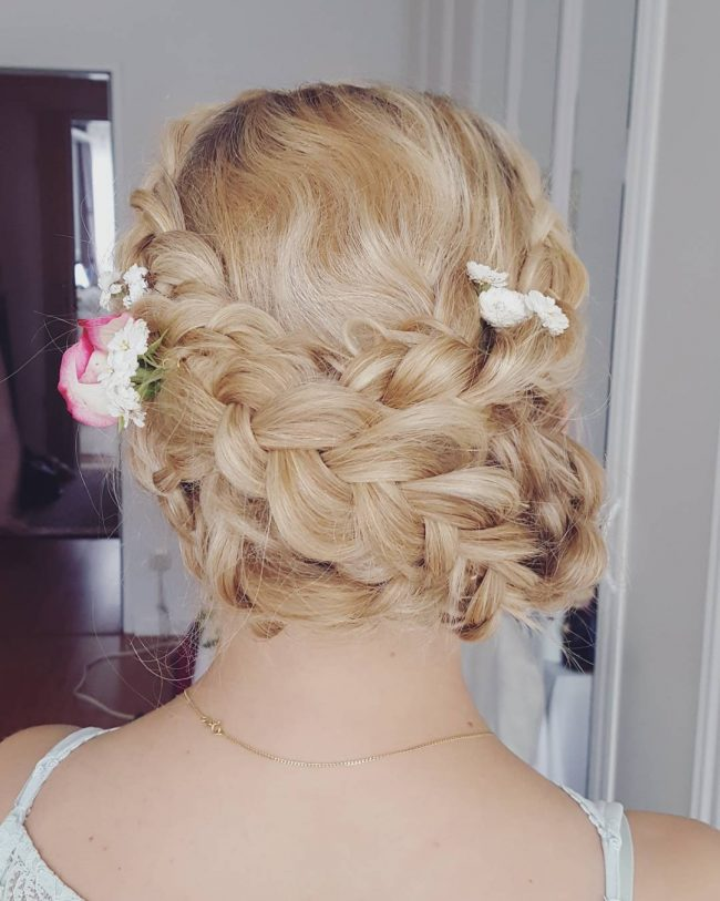 Impeccable Dutch Braid and Flowers