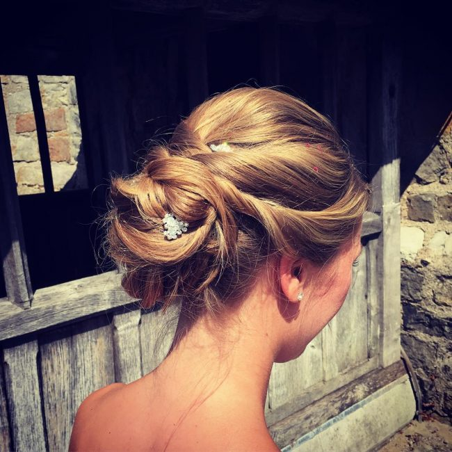 Intricately Twisted Chignon
