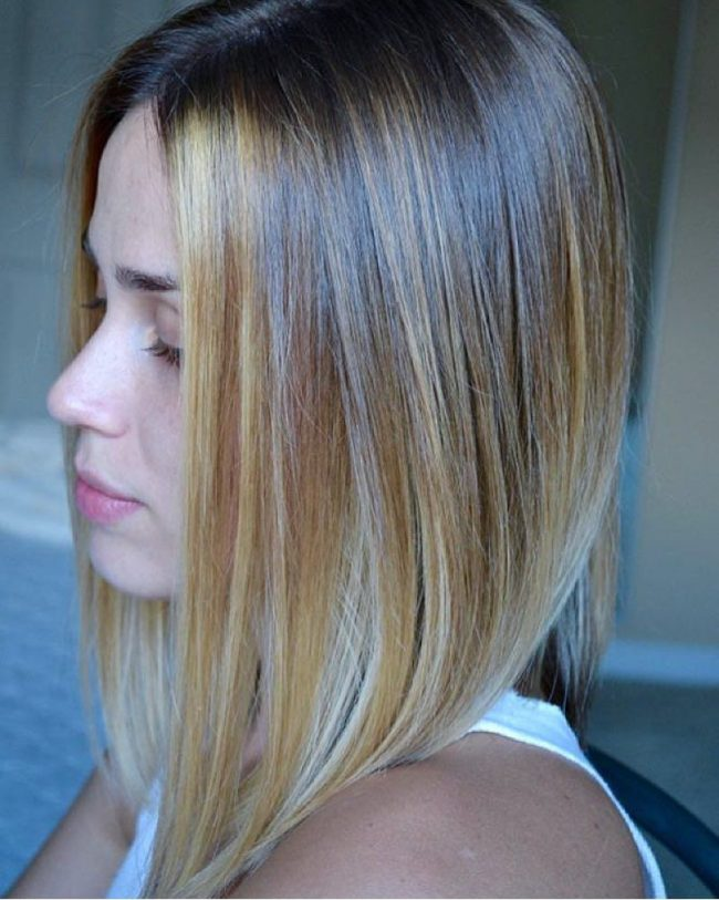 Lush Blonde Balayage with Peppered Silver