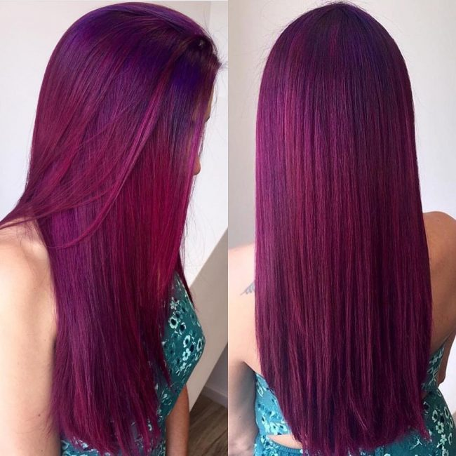 Dark purple hair color loreal