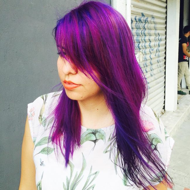 Magenta Violet with Blue Highlights