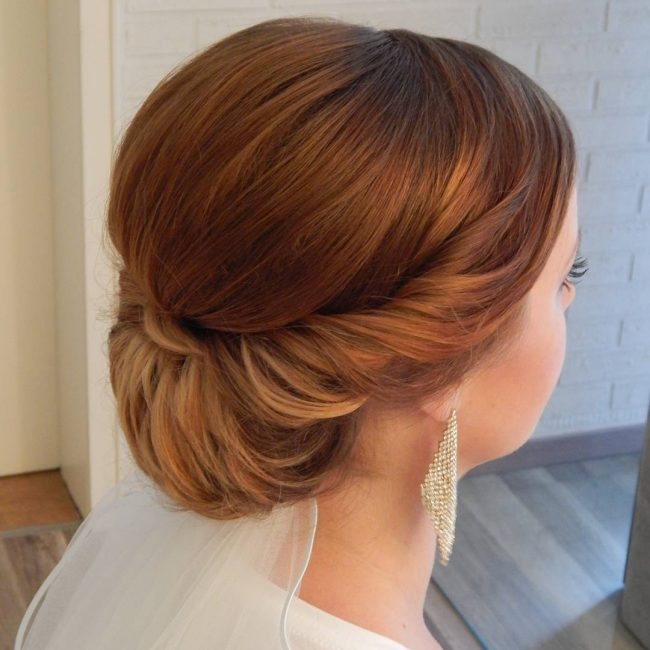 Majestic and Modern Twisted Chignon