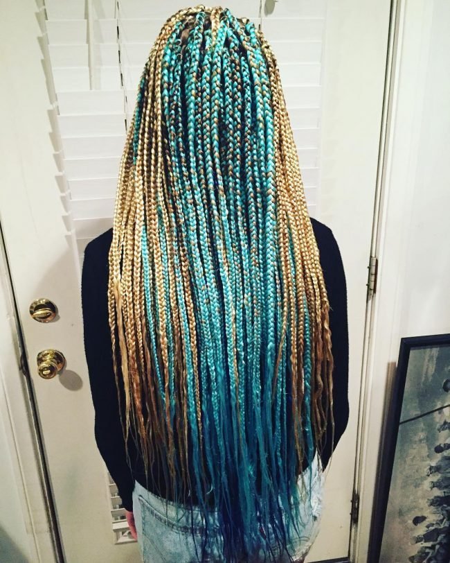 Medium Two Toned Box Braids