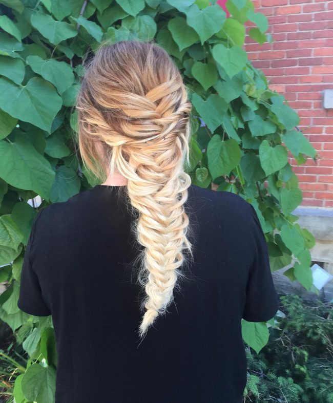 Mermaid Braid for Ombre Mermaid Hair