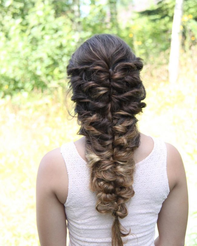 Mermaid Curly Hairstyle