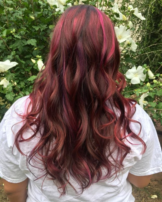 Multi-Tonal Burgundy Hair