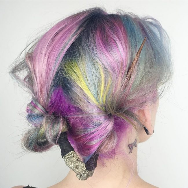 Multicolor Magic over Gray