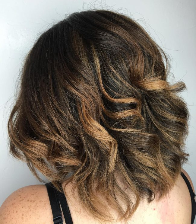 Natural Balayage Curls with Tousled Finish