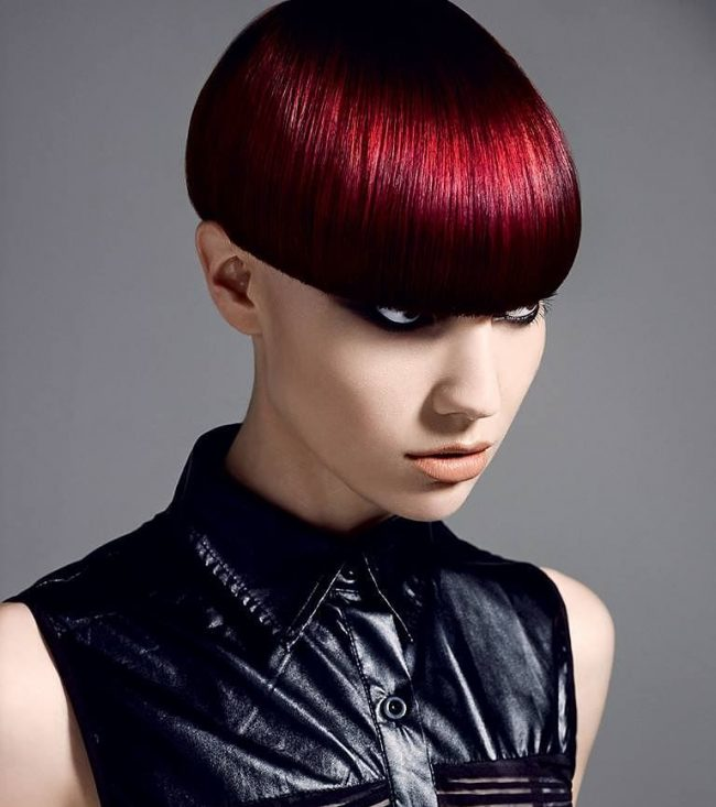 Neat Bowl Haircut with Blunt Cut