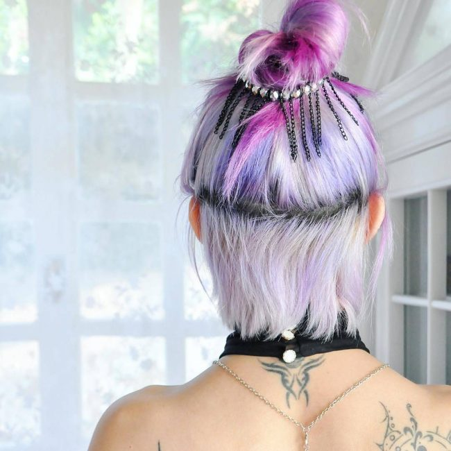 Pastel Purple and Pink Knot