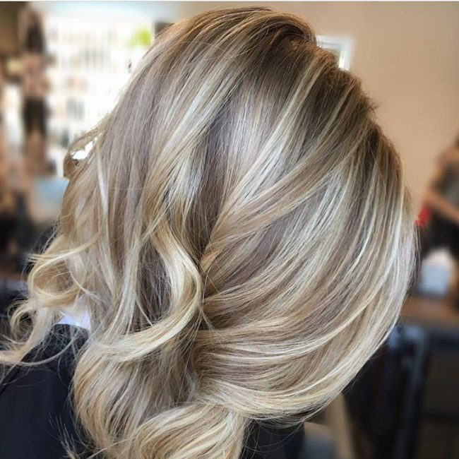Sand blonde hair color