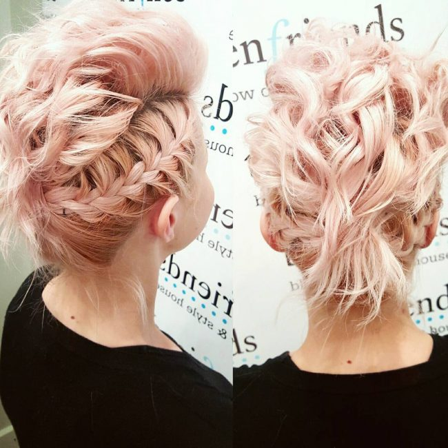 Pink Pixie Updo