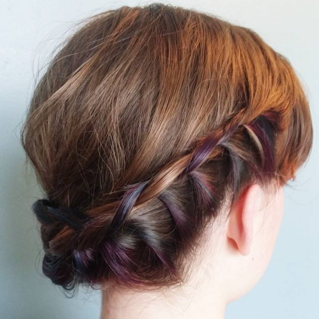 Plaited Updo with Fun Peek-a-Boos