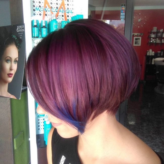 Plum Bob with Subtle Blue Streaks