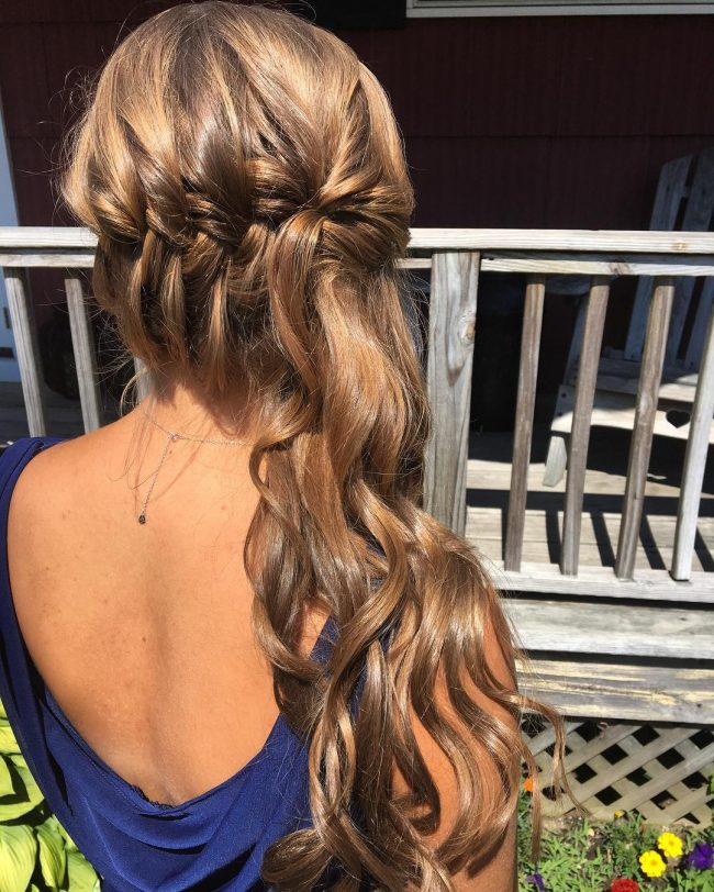 Pretty French Braid Side Updo
