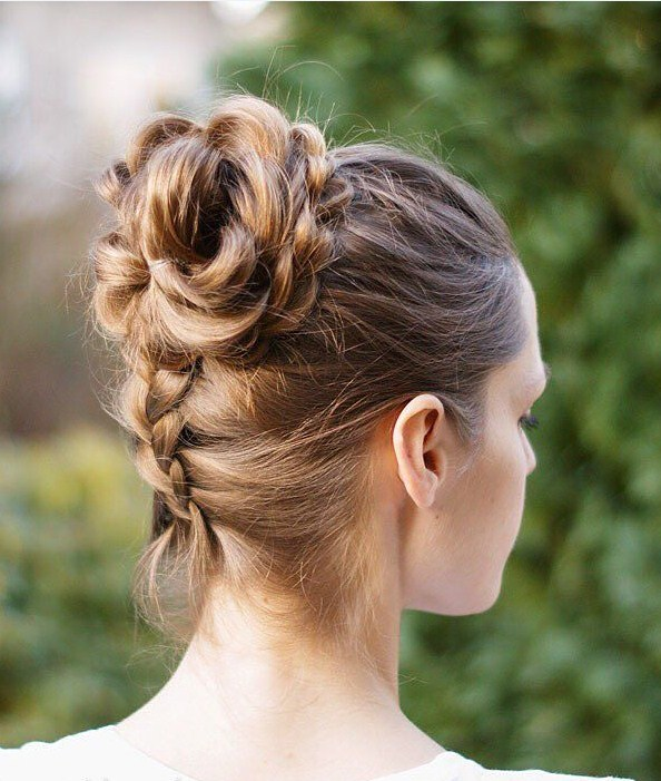 Pull-Through Braid into a Bun