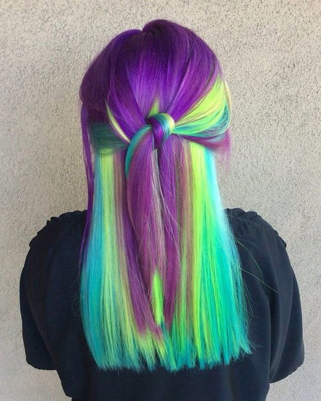 Romantic Multi-Color Hair