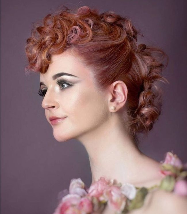 Rose Gold Sophisticated Updo