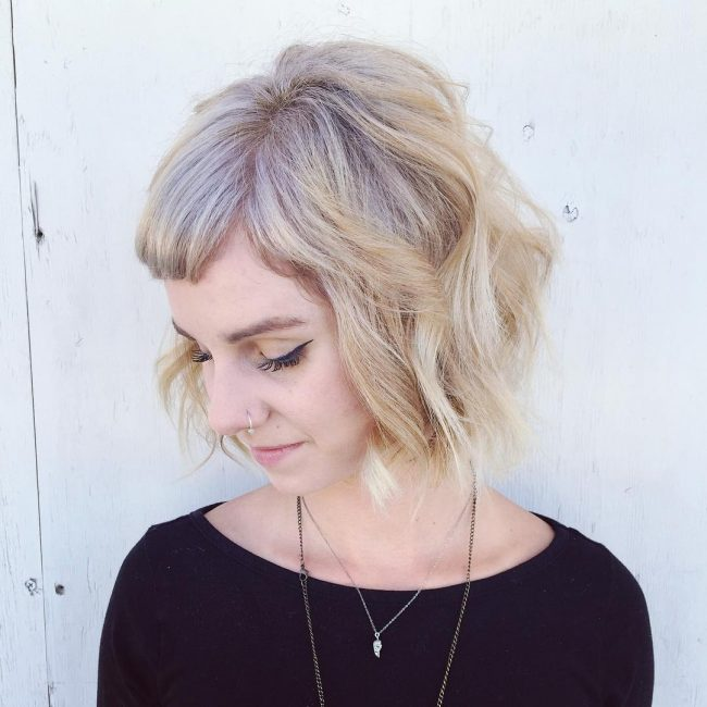Short Blonde Hair with Ashy Highlights