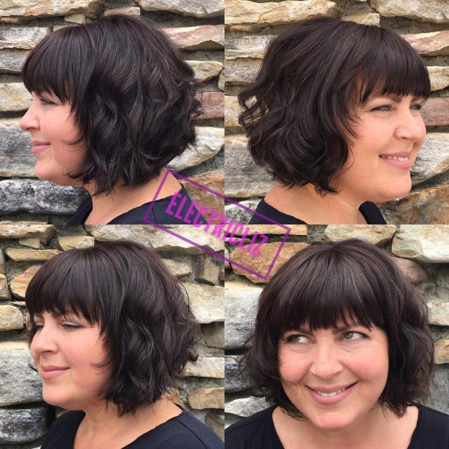 Short Bob with Wavy Ripples