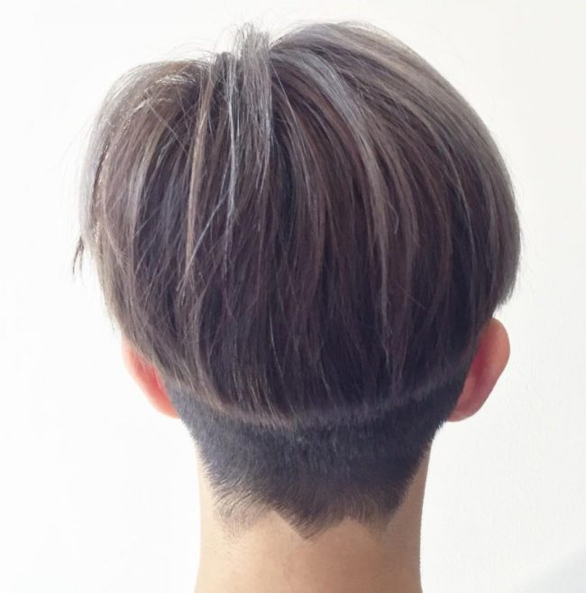 Short Bowl Pixie with Jagged Outline