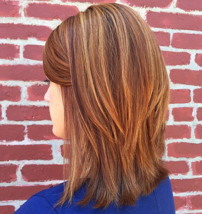 Short Chopped Bob with Auburn Highlights