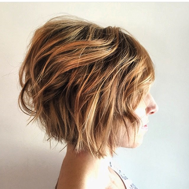 Short Wavy Bed Head