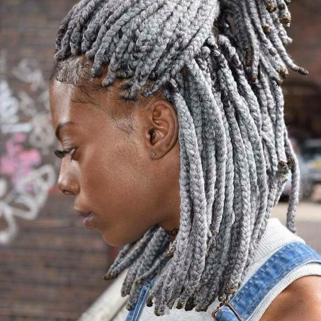 Silver Grey Twists