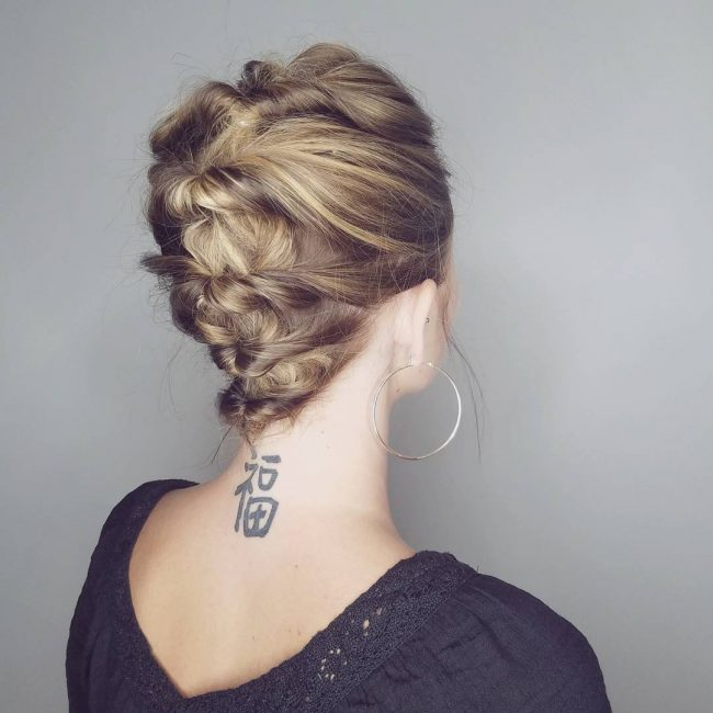 Simple Twisted and Pinned Updo