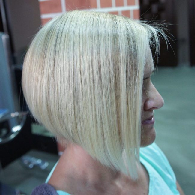 Sleek Bob with Angled Cut