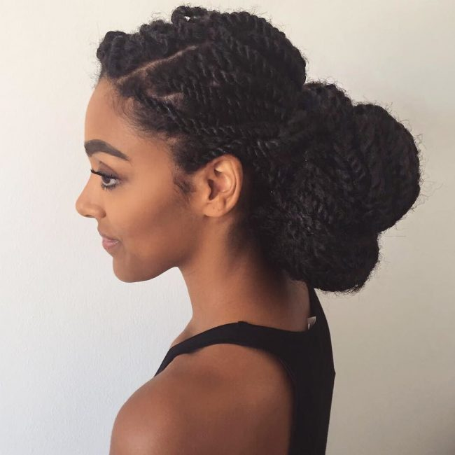 Sophisticated Marley Twist Updo