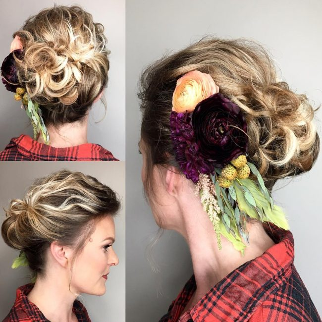 Stunning Upstyle with Bohemian Floral