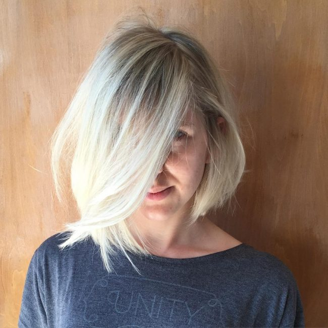 Styled Up Platinum Bob