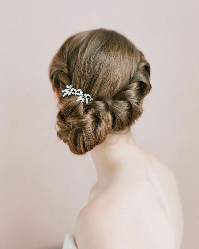 Stylish Braided and Tucked Bun
