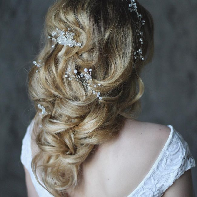 Sweet Soft Curls with Pearls