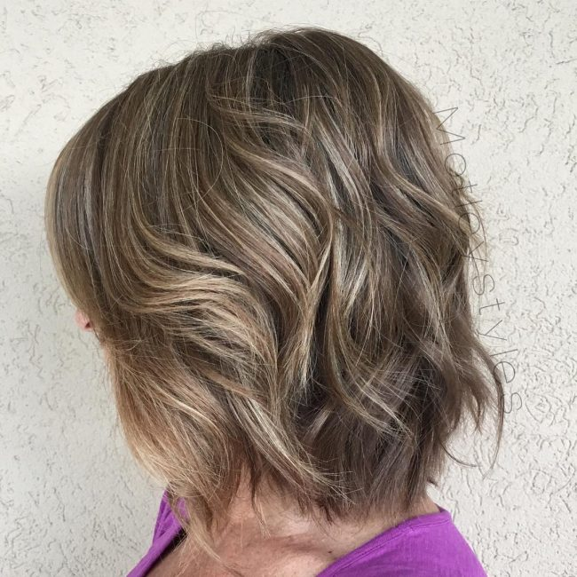 Textured Bob with Silver Highlights