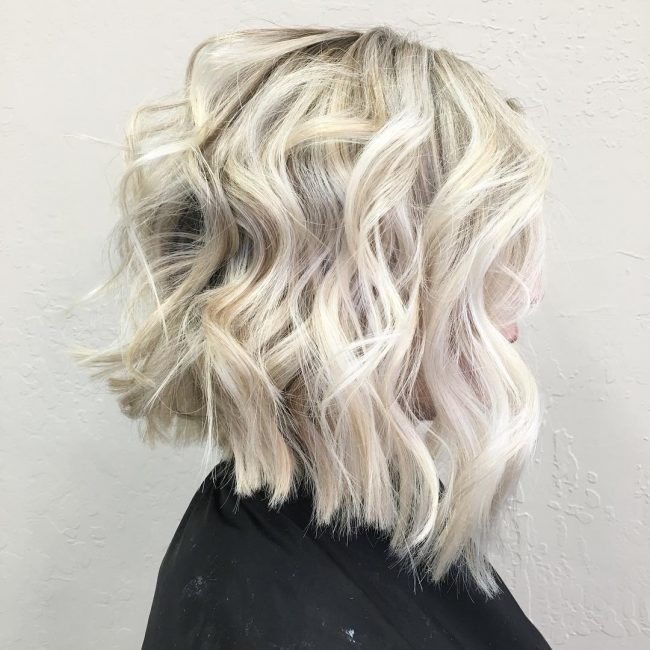 Textured Platinum Blonde Locks