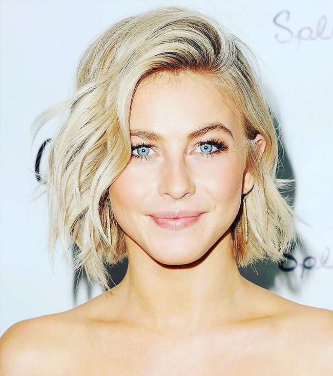 Textured Short Blonde Hair