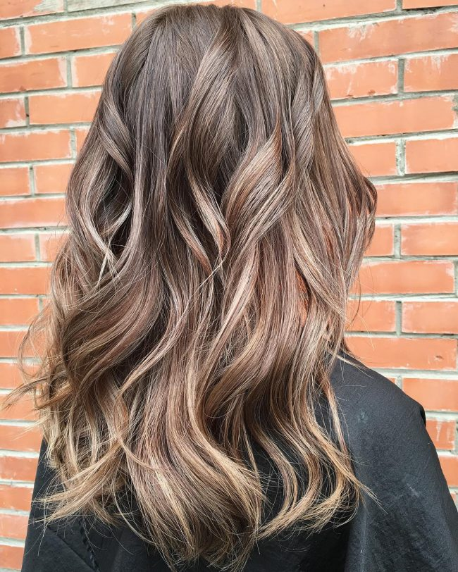 Textured and Wavy Brunette Locks