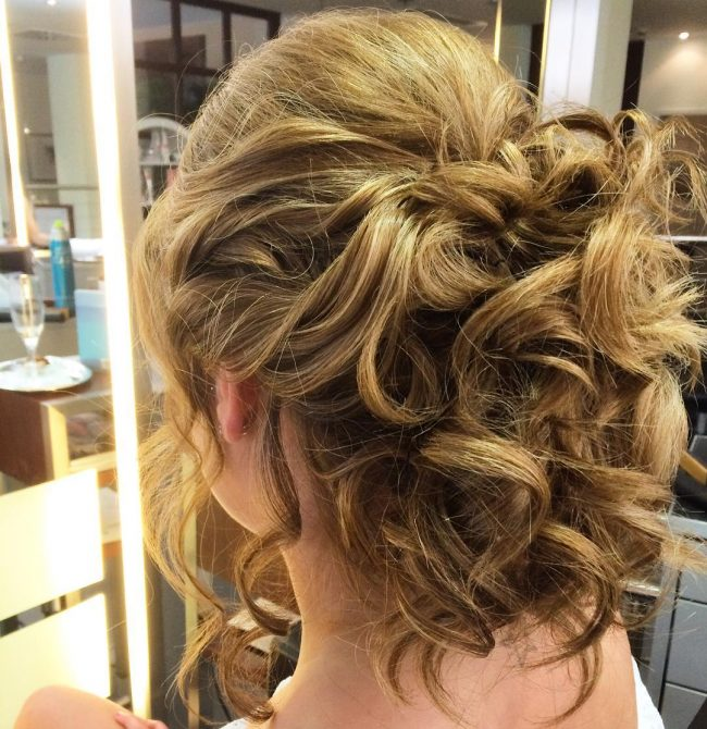 Thick and Messy Curly Updo