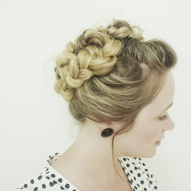 Twisted Braid Upstyle