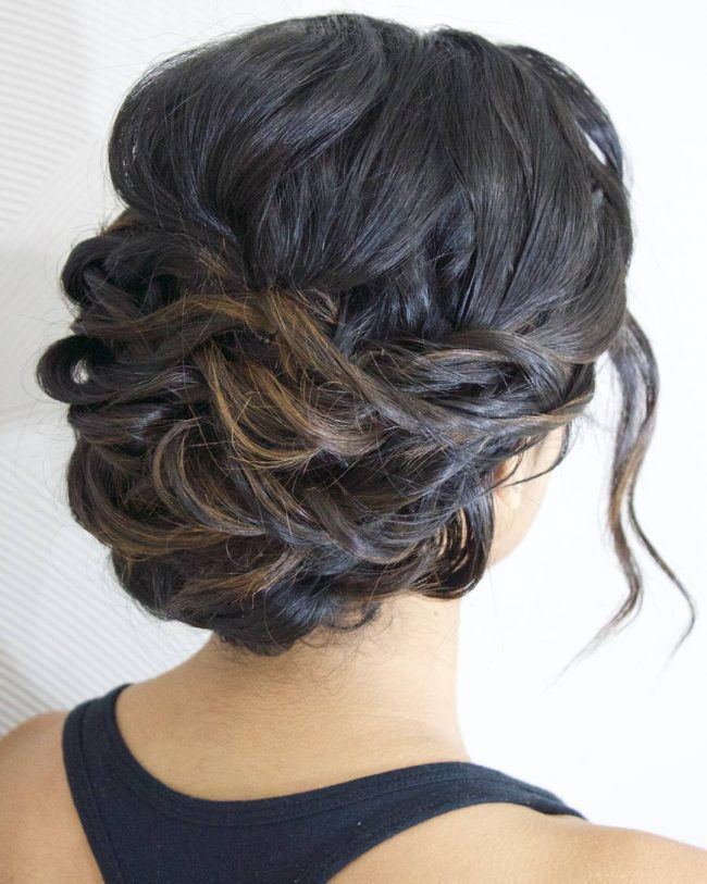 Twisted Bridal Chignon