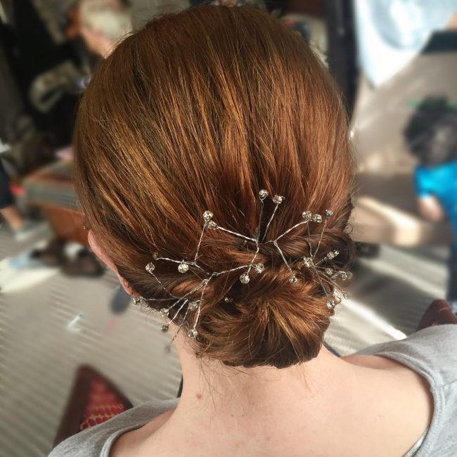 Twisted and Jeweled Small Chignon